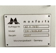 Used Monforst Sanforizing machine